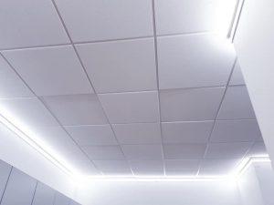Podsvietenie ako príprava pre napínací strop